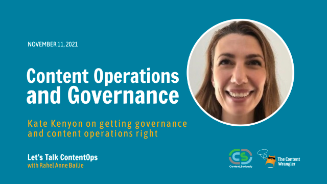 Let's Talk ContentOps —Content Operations and Governance