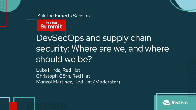 DevSecOps and supply chain security