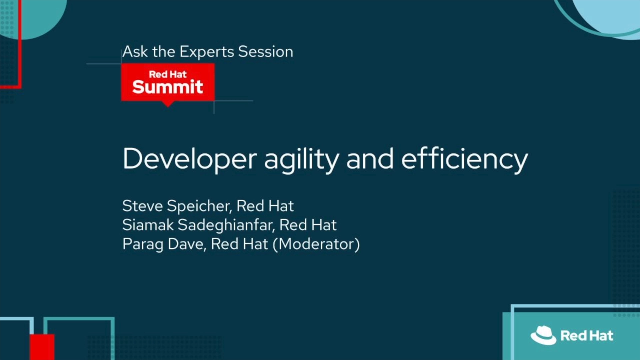Developer agility and efficiency