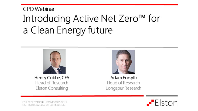 Introducing Active Net Zero™ for a clean energy future