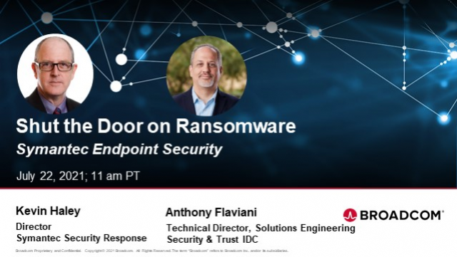 Shut the Door on Ransomware With Symantec Endpoint Security