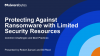 Protecting Against Ransomware with Limited Security Resources
