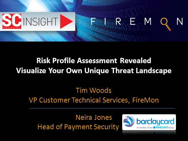 Risk Profile Assessment Revealed: Visualise Your Own Unique Threat Landscape