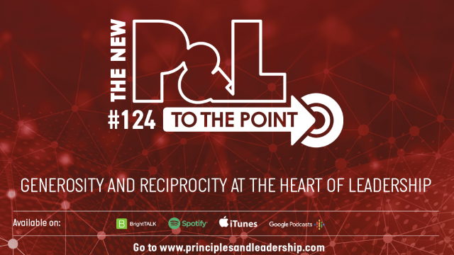 The New P&L TO THE POINT on Generosity and Reciprocity in Leadership