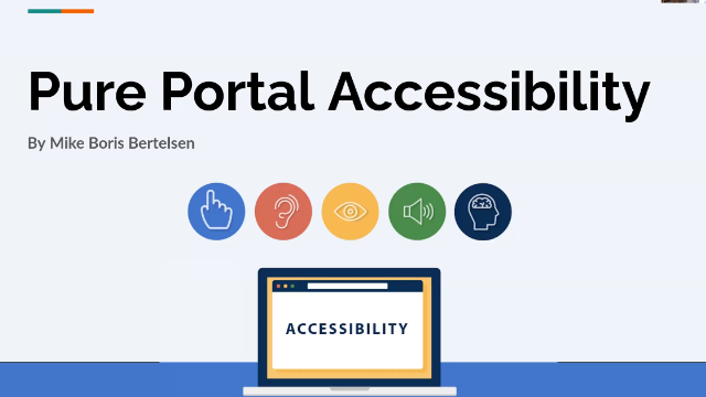 Accessibility & your Pure Portal
