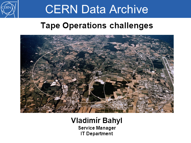 CERN Data Archive - Tape Operations Challenges