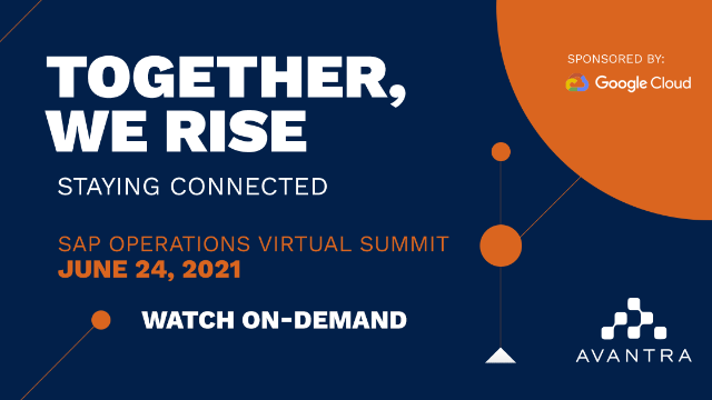 Together, we rise - Avantra Summit June 2021