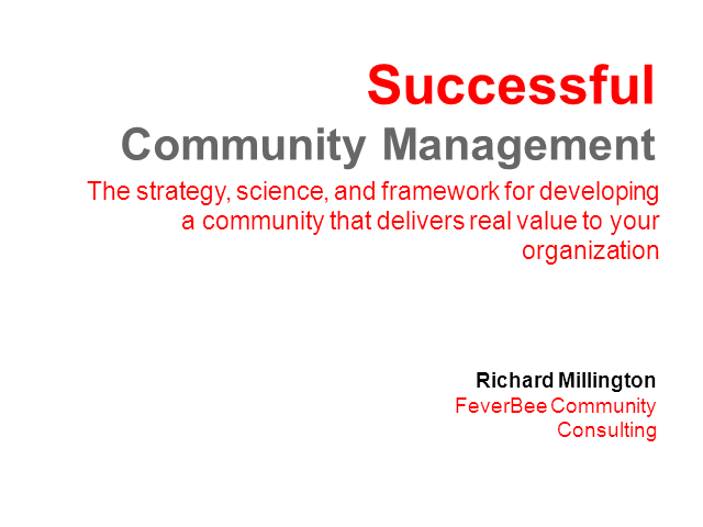 Successful Community Management