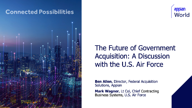 The Future of Government Acquisition: A Discussion with the US Air Force