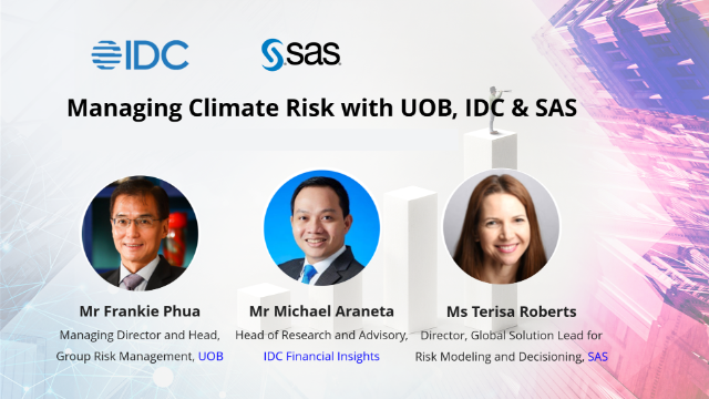 Managing Climate Risk with UOB, IDC and SAS
