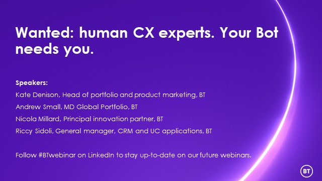 Wanted: human CX experts. Your Bot needs you.