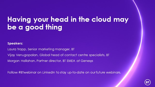 Having your head in the cloud may be a good thing
