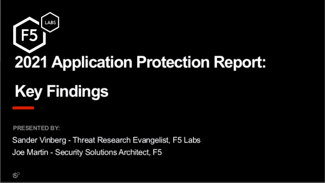 Part 1 of 2: 2021 Application Protection Report: Key Findings
