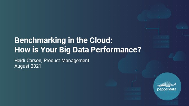 Benchmarking in the Cloud: How Is Your Big Data Performance?