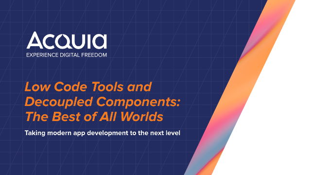 Low Code Tools and Decoupled Components: The Best of All Worlds