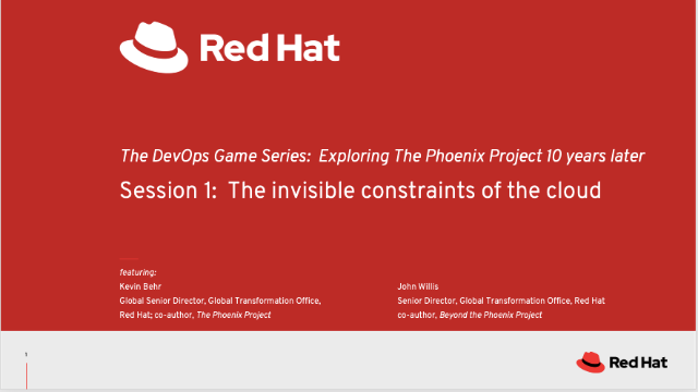 The DevOps Game: Explore the Phoenix Project 10 years later - Pt.1
