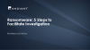 Ransomware: 5 Steps To Protect against it