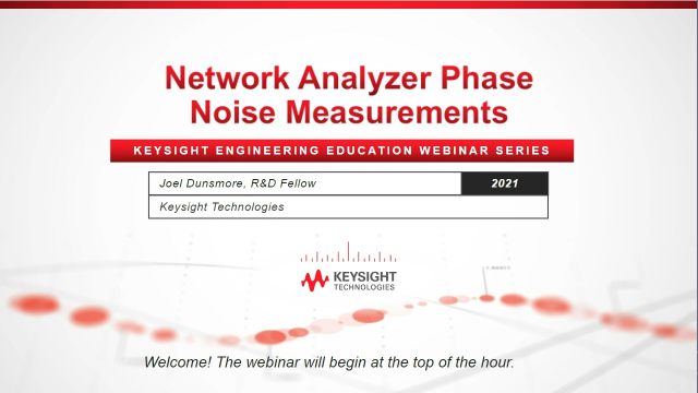 Network Analyzer Phase Noise Measurements with Dr. Joel Dunsmore