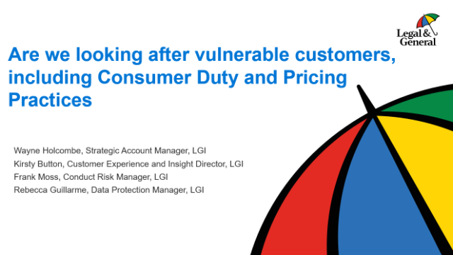 Compliance Directors Session - Are we looking after vulnerable customers?