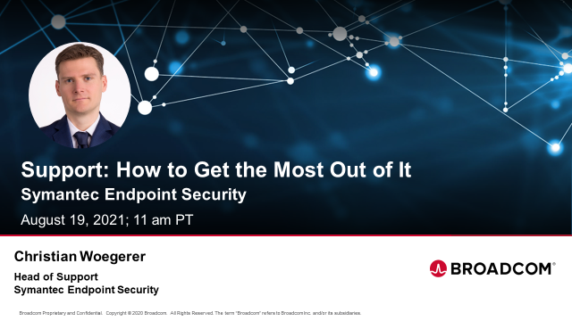 Support: How to Get the Most from Your Symantec Endpoint Security
