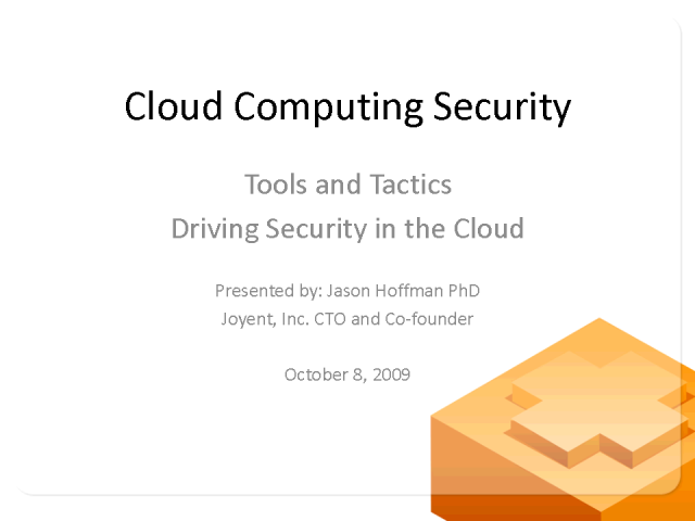 Improving Security in the Cloud