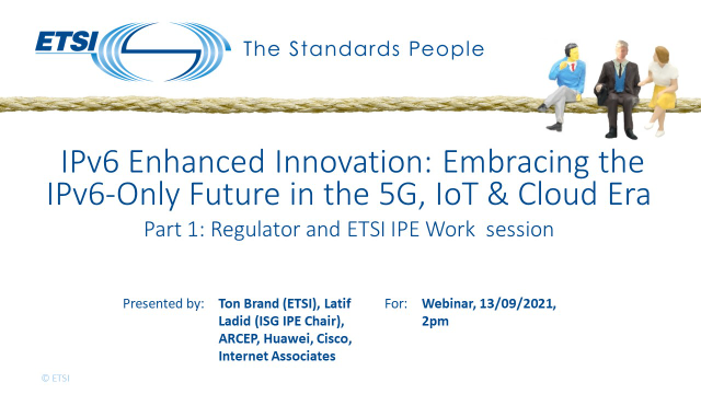 IPv6 Enhanced Innovation: the IPv6-Only Future in the 5G, IoT & Cloud Era, 1/2