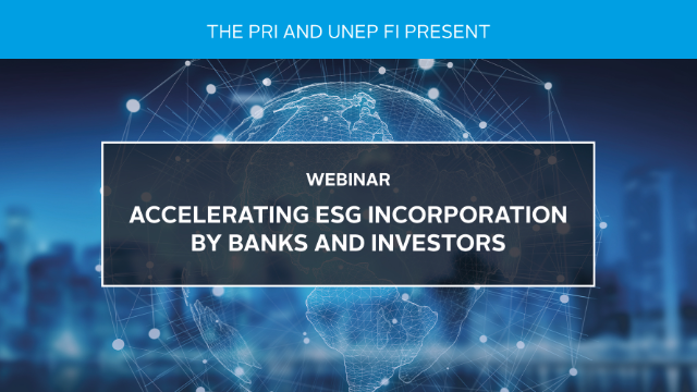 Accelerating ESG Incorporation by Banks and Investors
