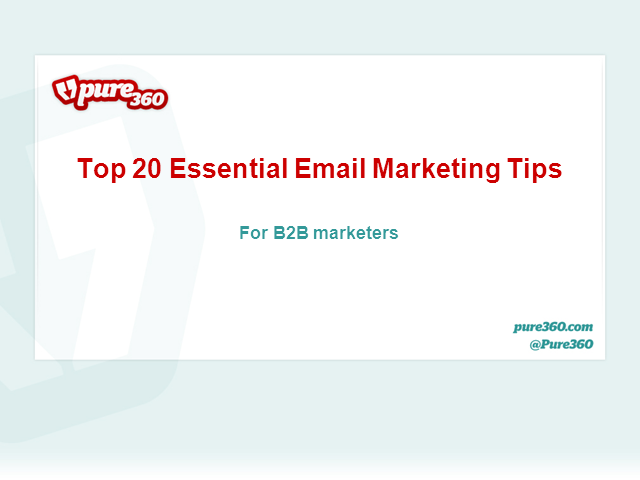 Top 20 Essential Email Marketing Tips