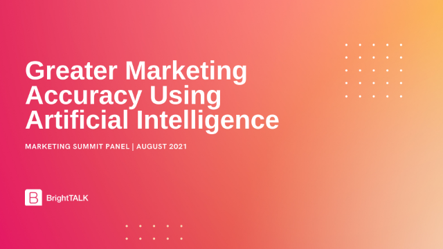 Greater Marketing Accuracy Using Artificial Intelligence