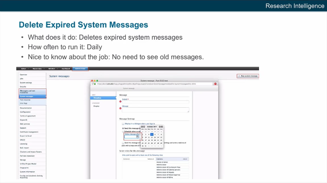 Delete Expired System Messages