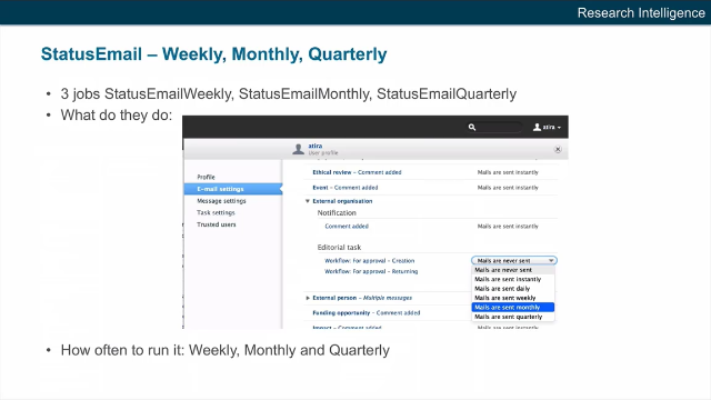 StatusEmail - Weekly, Monthly, Quarterly