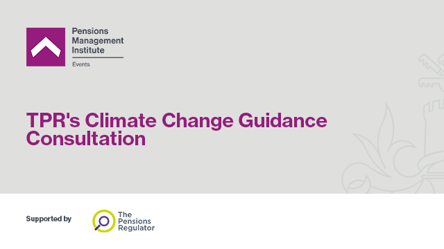 TPR's Climate Change Guidance Consultation