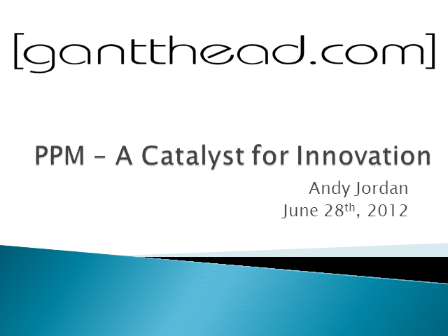 PPM – A Catalyst for Innovation (1 PMI PDU)