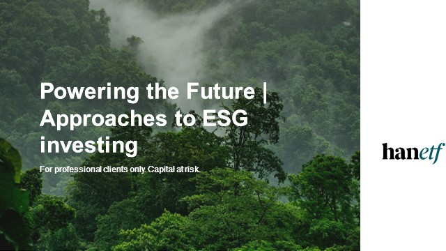 Powering the Future | Approaches to ESG investing