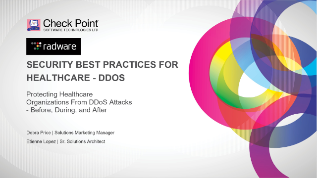 Protecting Healthcare Organizations from DDoS Threats - Before, During and After