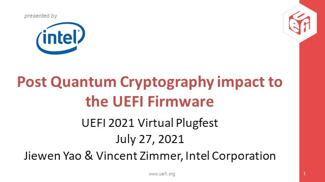 The Impact of Post Quantum Cryptography on UEFI BIOS