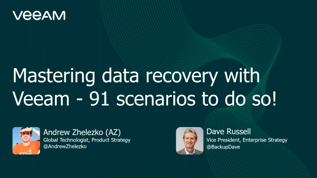 Mastering data recovery with Veeam V11: 91 scenarios to do so!