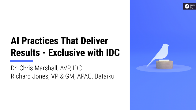 Lessons from the frontlines with IDC: AI Practices That Deliver Results