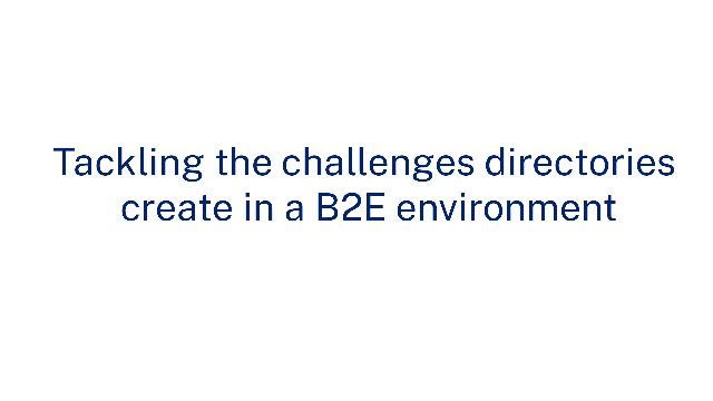 Tackling the challenges directories create in a B2B environment