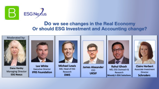 Do we see changes in the Economy Or should ESG Investment and Accounting change?