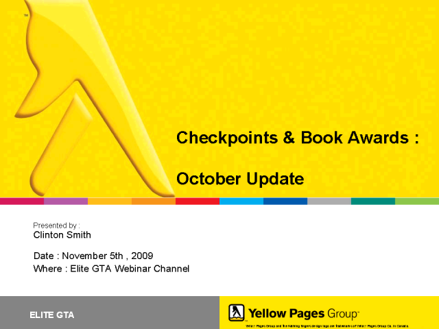 Checkpoints & Book Awards - October Update