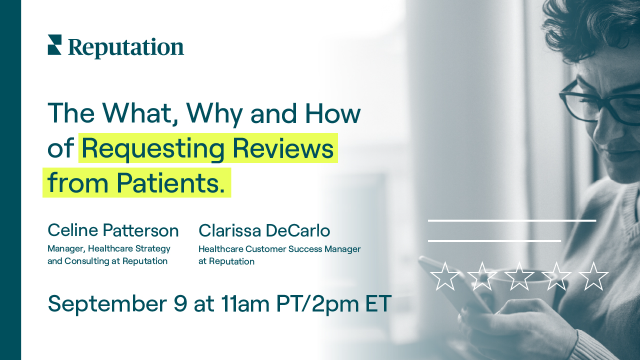 The What, Why and How of Requesting Reviews from Patients.