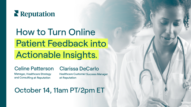 How to Turn Online Patient Feedback into Actionable Insights.