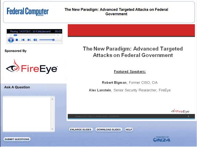 The New Paradigm: Advanced Targeted Attacks on Federal Government