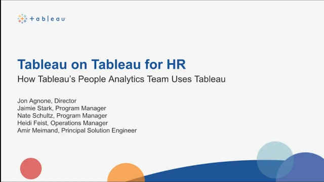 How Tableau Uses Tableau for Human Resources