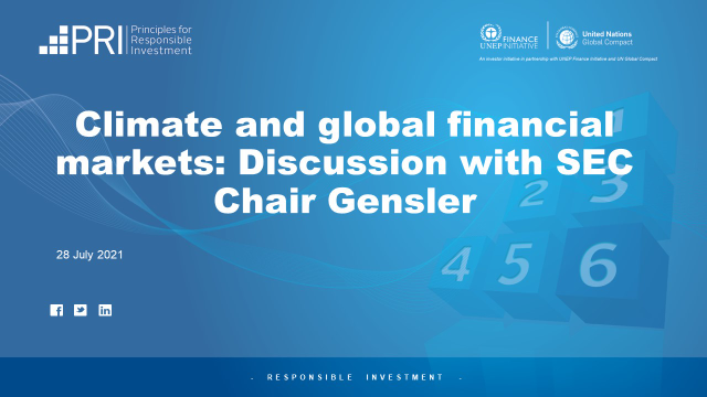 Climate and global financial markets: Discussion with SEC Chair Gensler