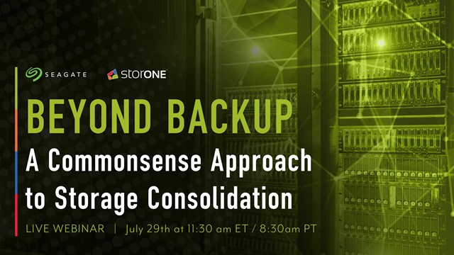 Beyond Backup – a Commonsense Approach to Storage Consolidation