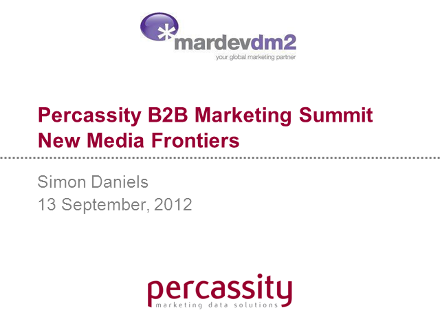 New Media Frontiers: What's new and exciting?