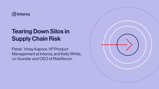 Tearing Down Silos in Supply Chain Risk