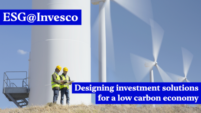Designing investment solutions for a low carbon economy
